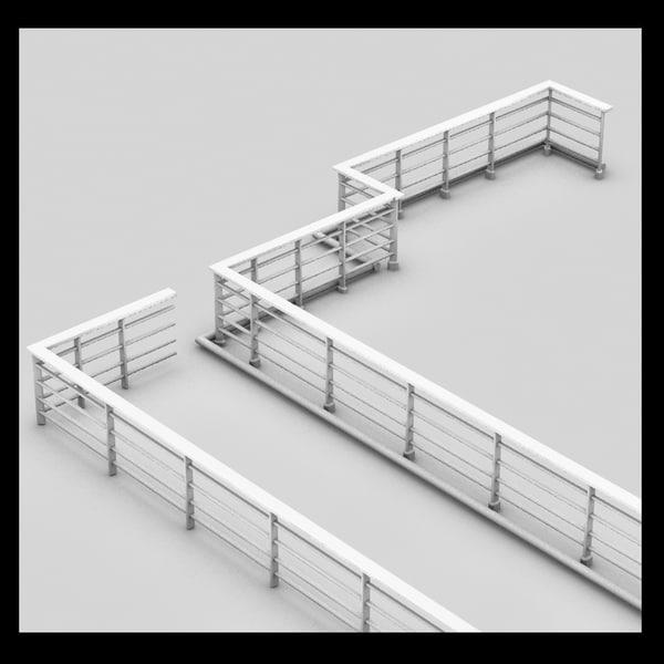 metal handrail 3D Models
