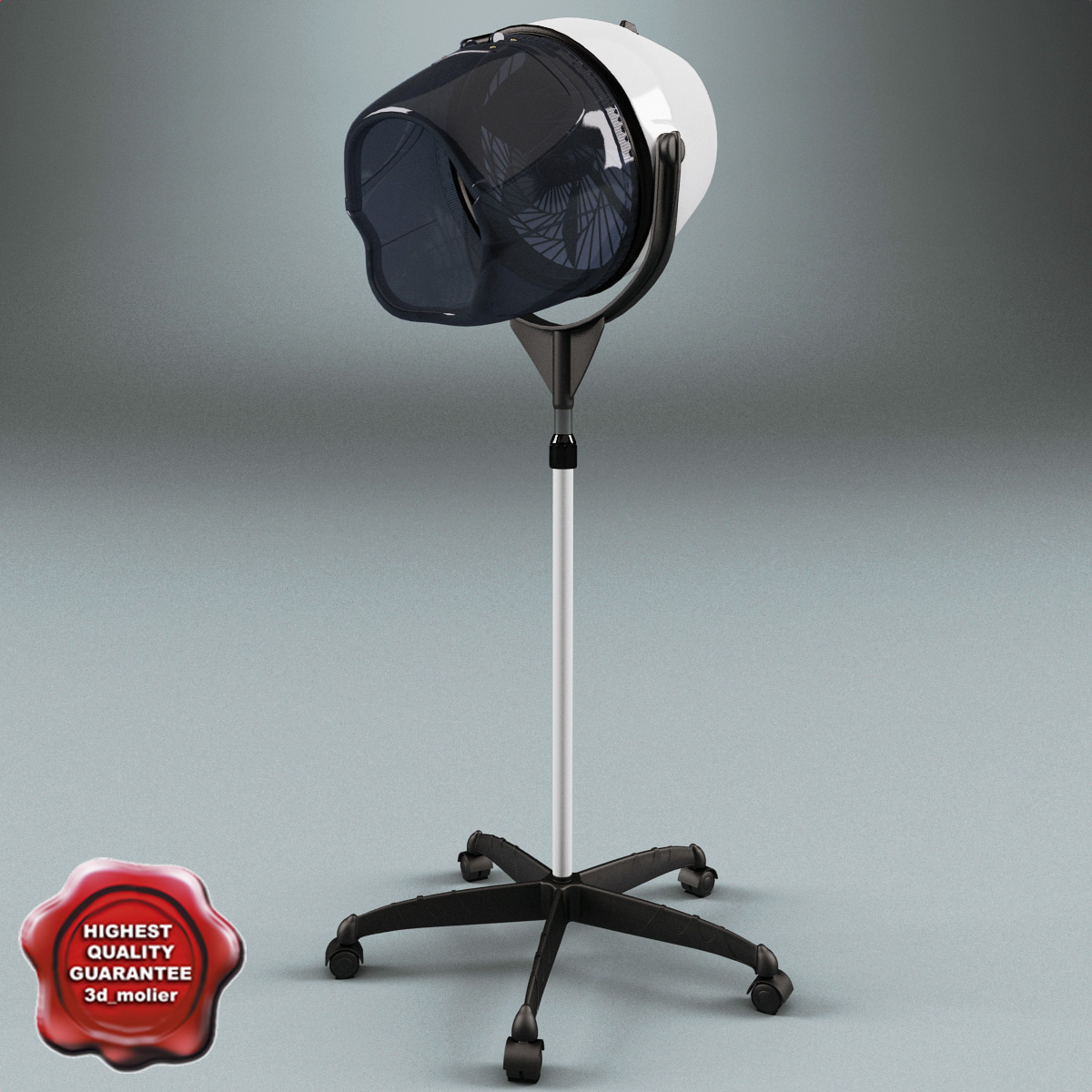 Salon stand hair dryer 3d model for Salon stand