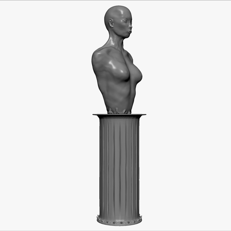 Statue of Woman and Column