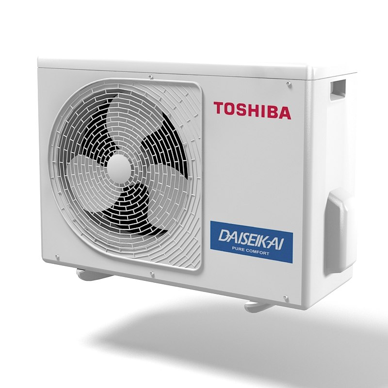 Toshiba Daiseikai air conditioner  climate control exetior condition outdoor split pump inverter cooling device .jpg