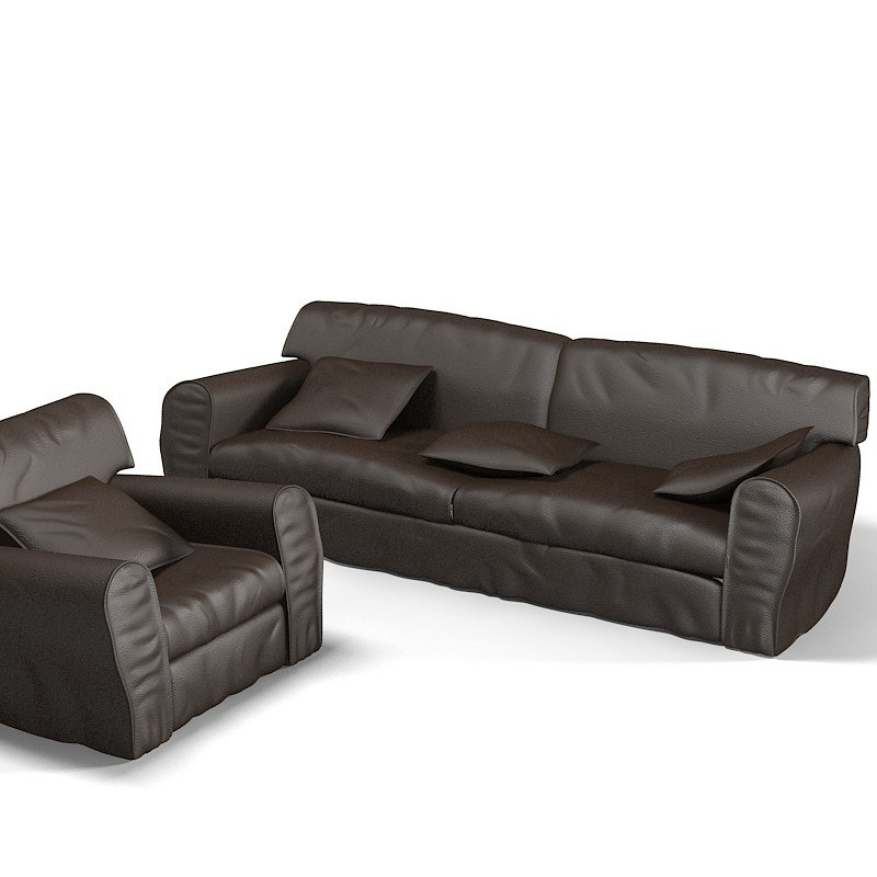 Baxter Housse traditional leather comfortable sofa armchair soft upholstery modern contemporary