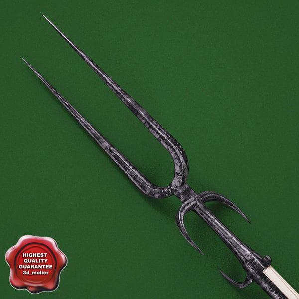 Medieval Spear V2 3D Models