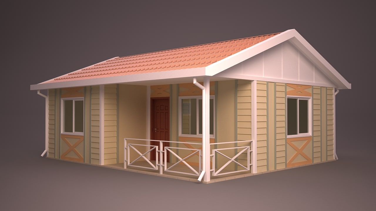 Homes different facade 3d model for Different models of houses