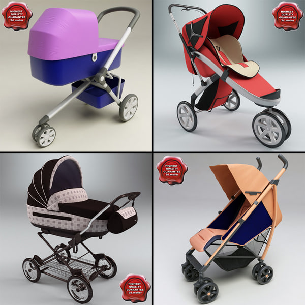 Baby Prams Collection 3D Models