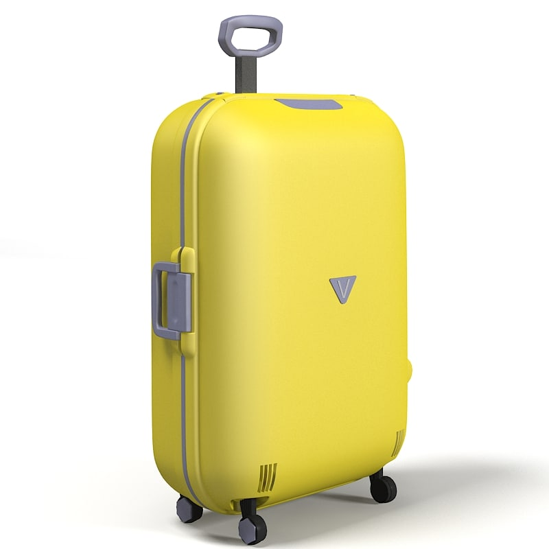 Roncato Travel Airline carry on Luggage bag trolley roll whelled big baggage suitcase packing case roll-abroad yellow.jpg