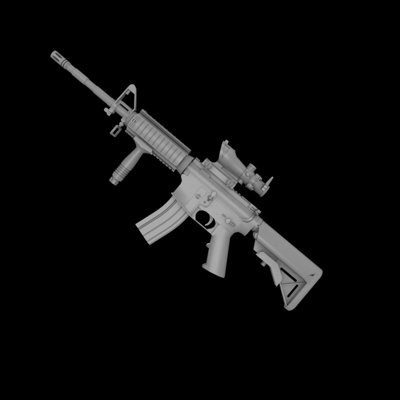 M4A1 Carbine(rails version) + ACOG + Crane 1.jpg