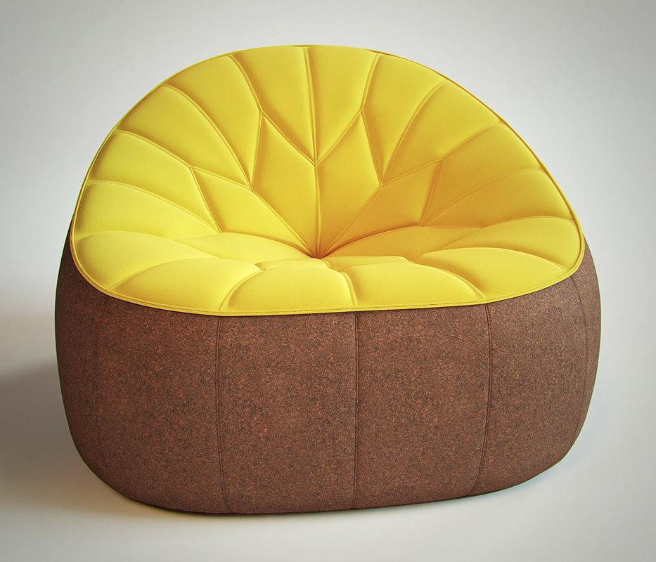 ligne roset armchair 3d model. Black Bedroom Furniture Sets. Home Design Ideas