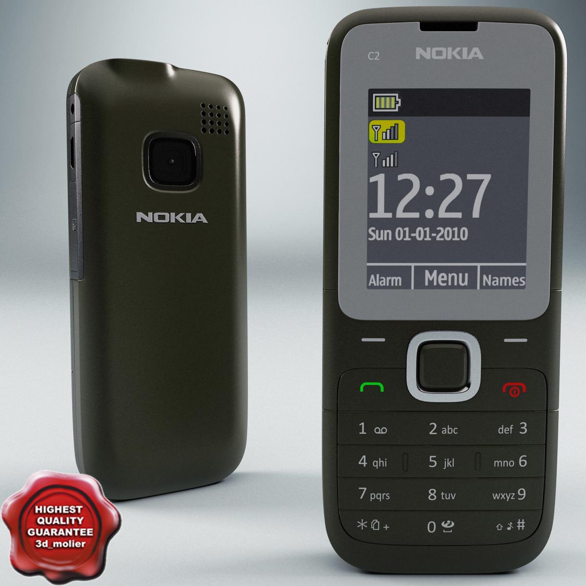 3d Obj Nokia C2 00 Gray
