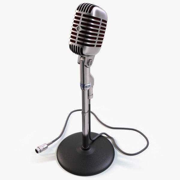Vintage Shure Microphone 3D Models