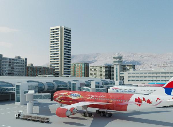 Airport 1 3D Models