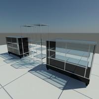 glass shelves 3D models