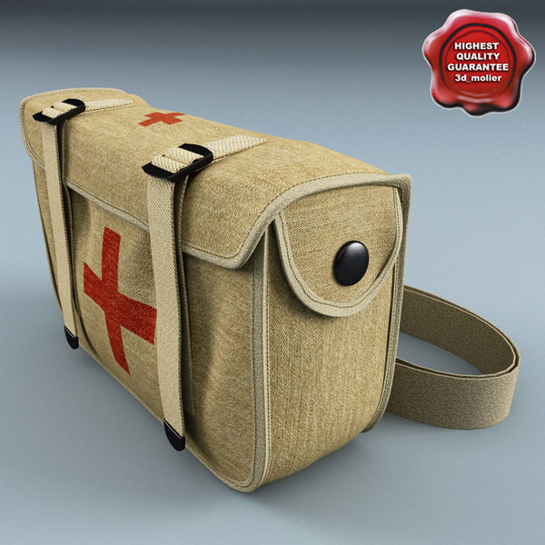 Military First Aid Kit 3D Models