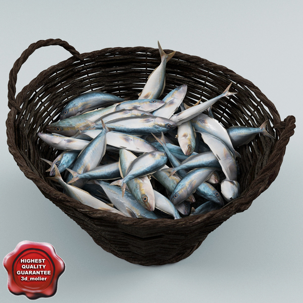 Max fish wicker basket for Live fish basket