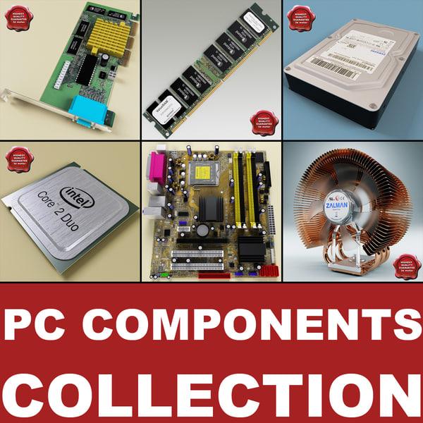Computer Components V3 3D Models