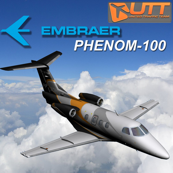 Embraer Phenom 100 Ready export to Fly Simulator 3D Models