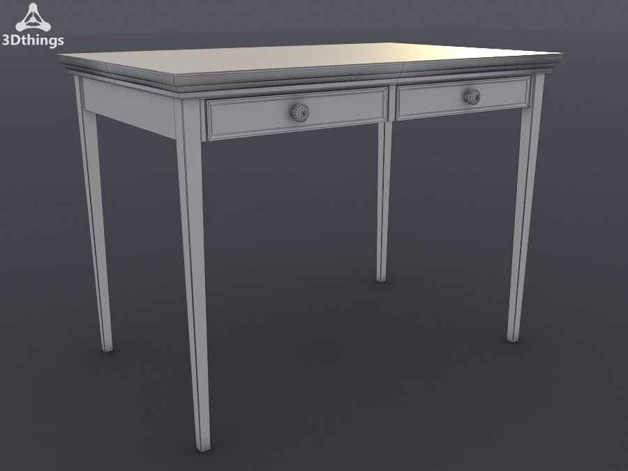 Hove 2 drawer Console Table, White.jpg