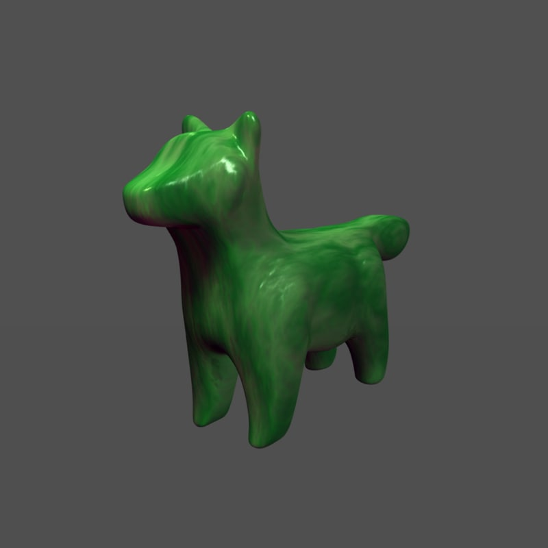 Jade Canine Dog Wolf CG Model for Sale