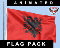 Albania Flag 3D models