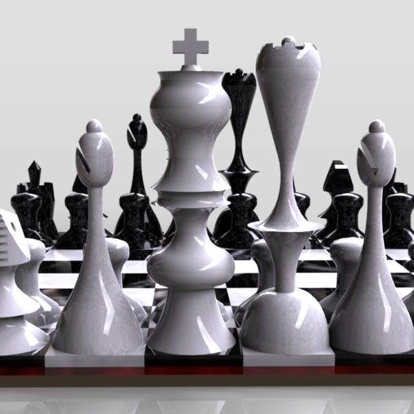 Chess Board 3D Models