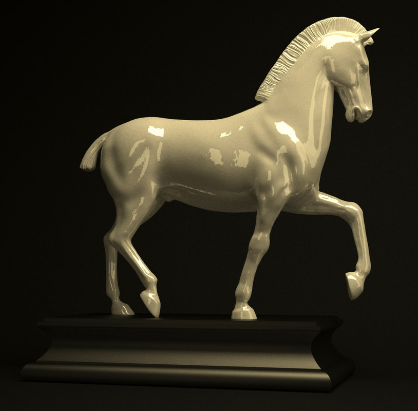 small horse statue 3d - photo #24