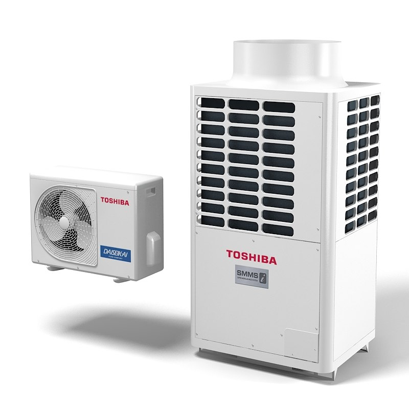 Toshiba Daiseikai SMMS TRF SYSTEM air conditioner  climate control exetior condition outdoor split pump inverter roof top wall cooling device.jpg