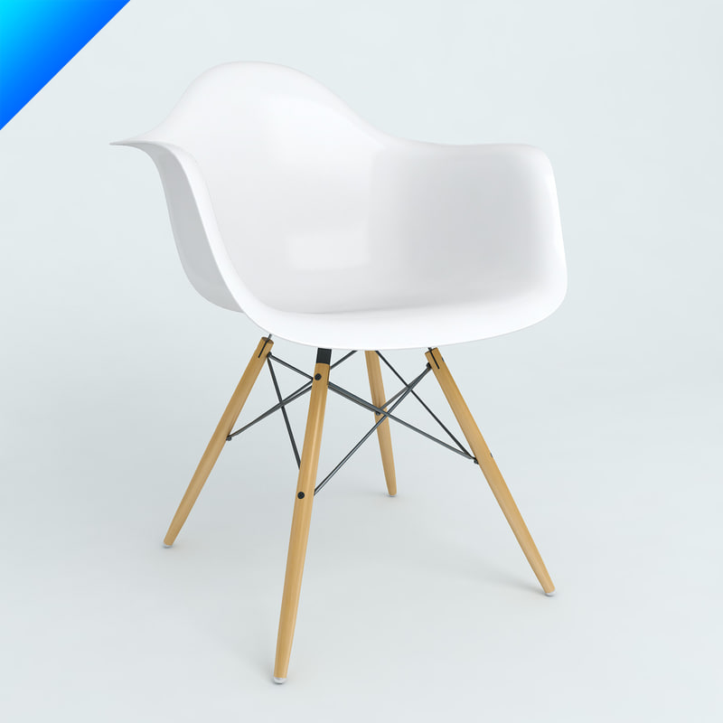 Daw 3d models for Eames plastic armchair daw replica