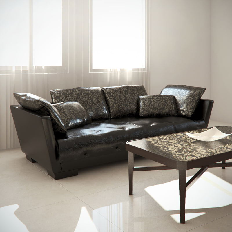 luxury sofa capital 3d model