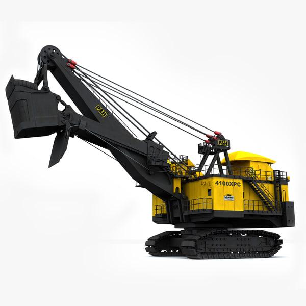 P&H 4100xpc Mining Shovel 3D Models