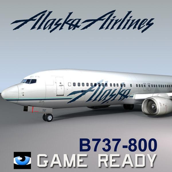 B737-800 Alaska Airlines 3D Models