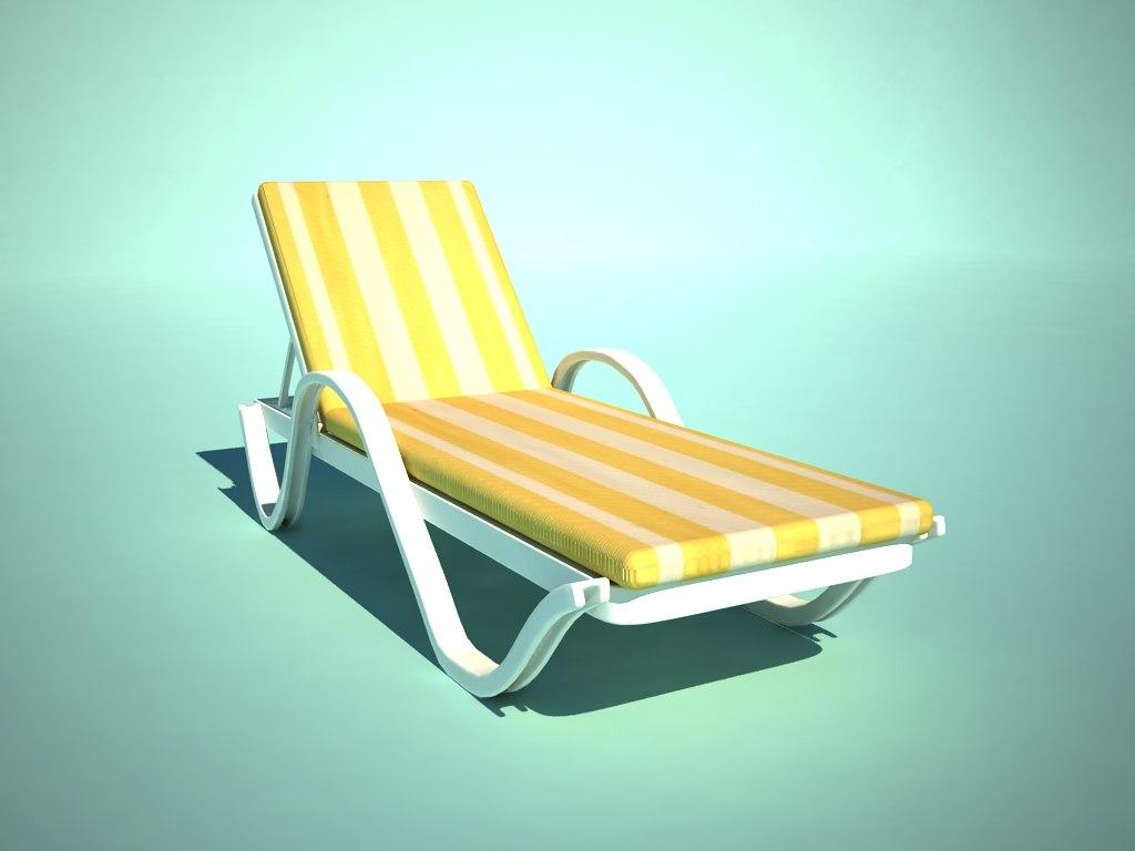 3d model chaise longue for Chaise quadriceps