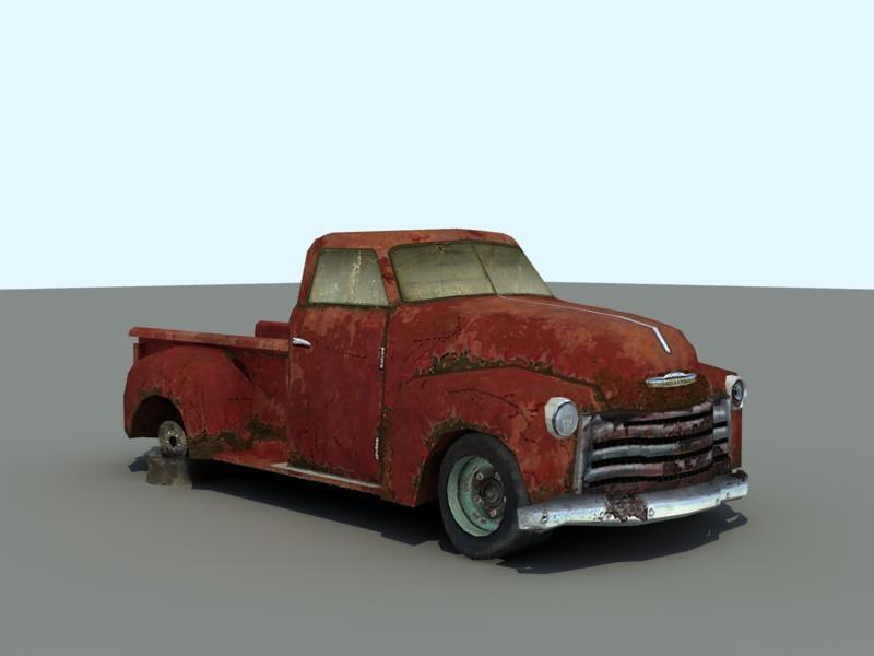 chevrolet truck 3d model. Black Bedroom Furniture Sets. Home Design Ideas