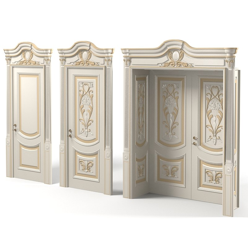 Newdesignporte Luigi VXI Luxury Classic baroque carved door double door.jpg