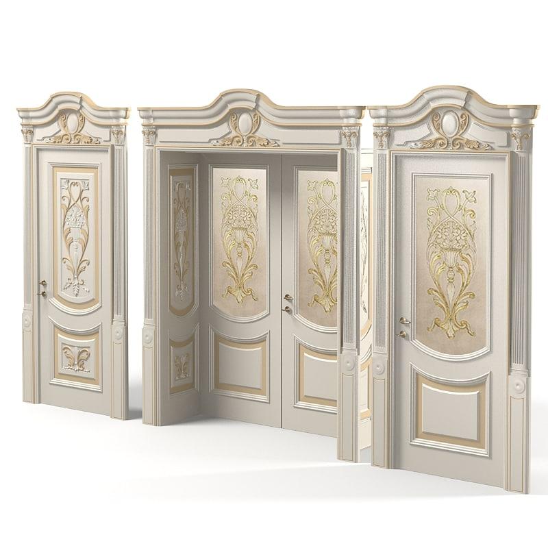 Newdesignporte luigi vxi 3d max for Classic interior doors designs