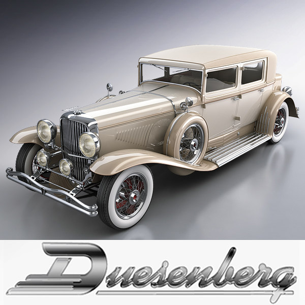 Duesenberg j 232 arlington sedan LWB 1932 3D Models