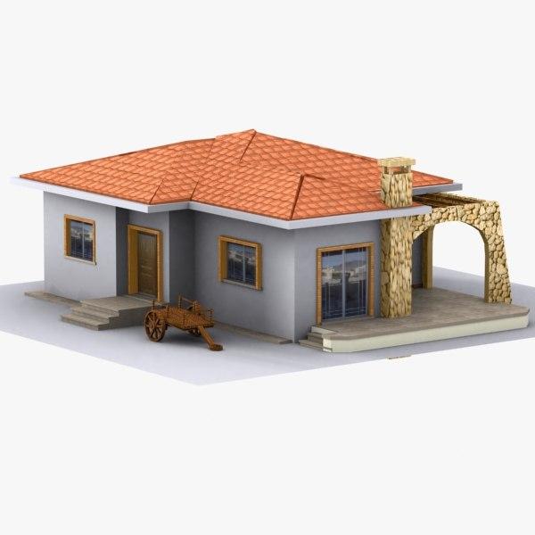 House home 3d model Home 3d model