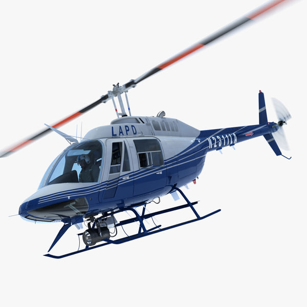 Bell Jetranger 206 Los Angeles Police Helicopter 3D Models