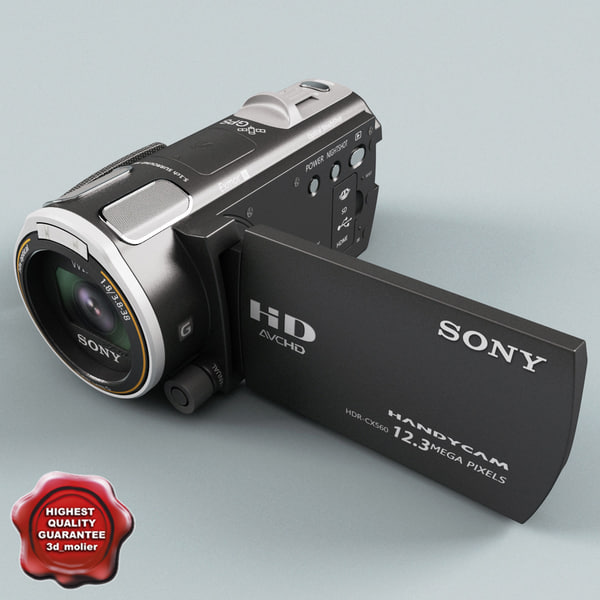 Handycam Sony HDR-CX560V 64GB 3D Models
