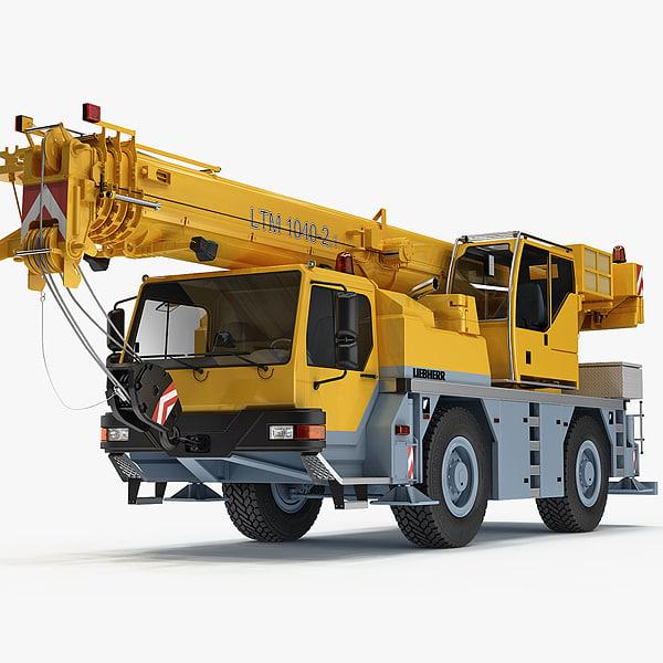 Liebherr mobile crane LTM 1040-2.1 2012 3D Models