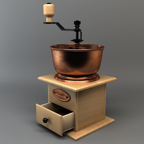 Antique Coffee Grinder 3D Models