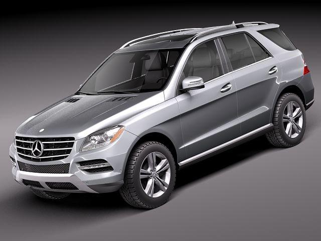 Mercedes benz m class 3d model for Mercedes benz 2014 suv models
