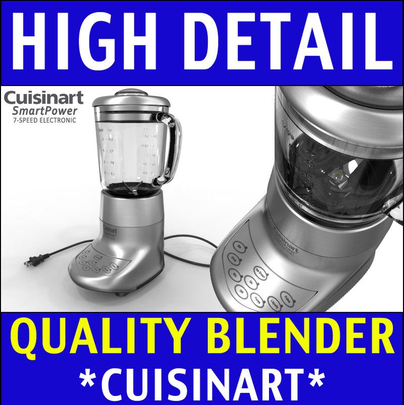 Blender - Cuisinart 3D Model