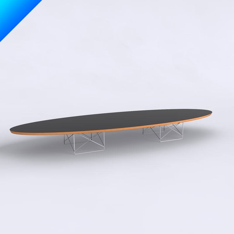 3d Table Charles Eames Elliptical Model