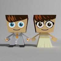 paper doll 3D models