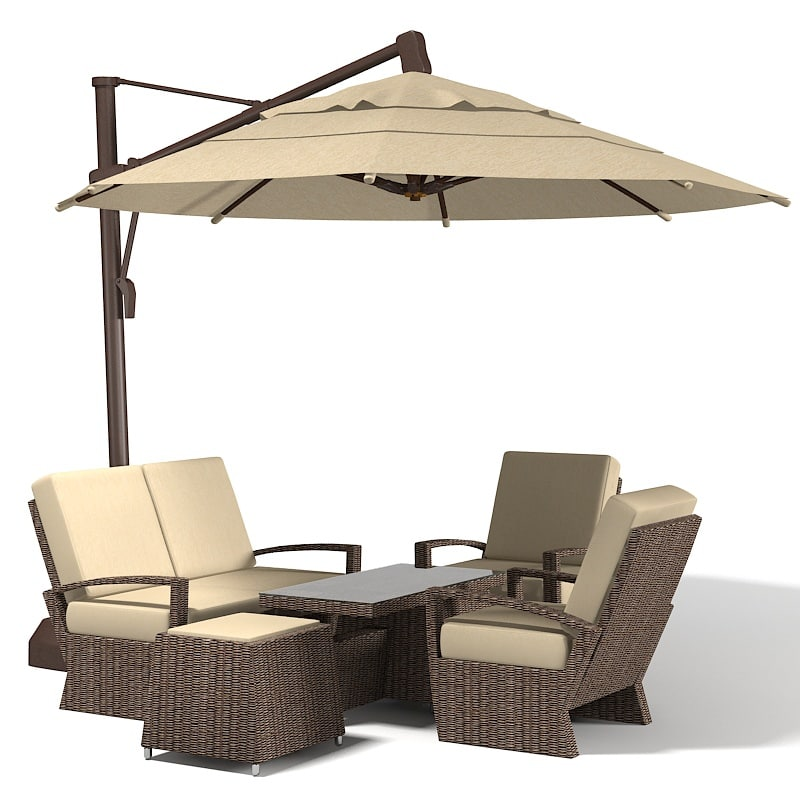 3d coral coast sunbrella for Outdoor furniture 3d max