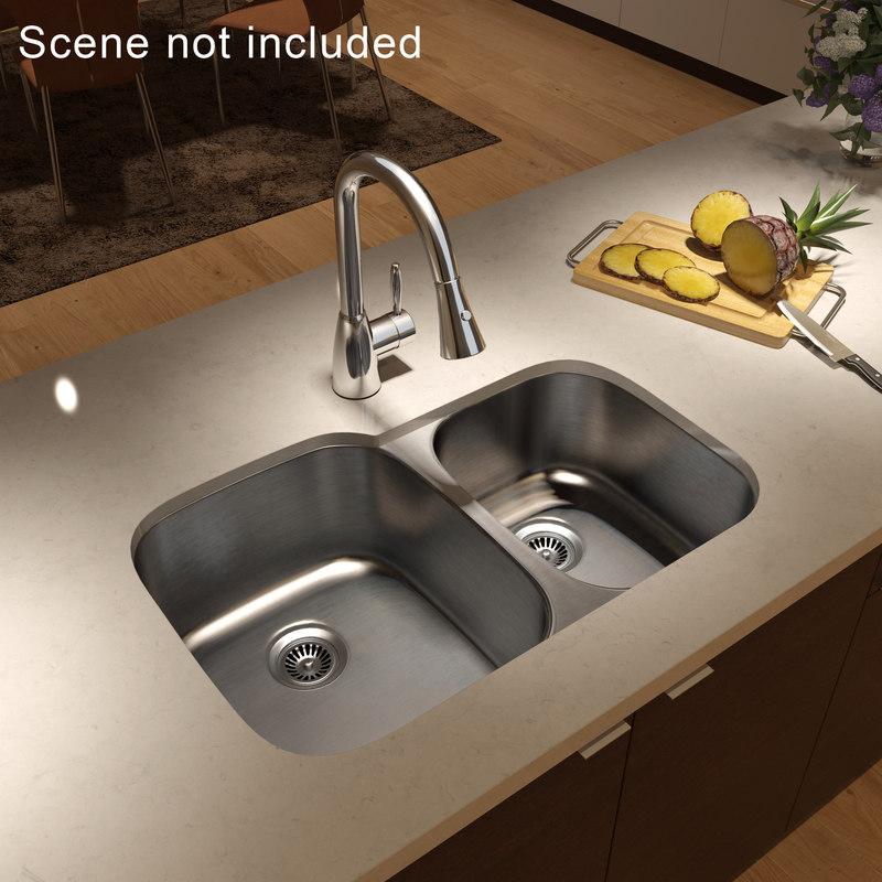 Kitchen Sink Realism: Undercounter Kitchen Sink Mixer Obj