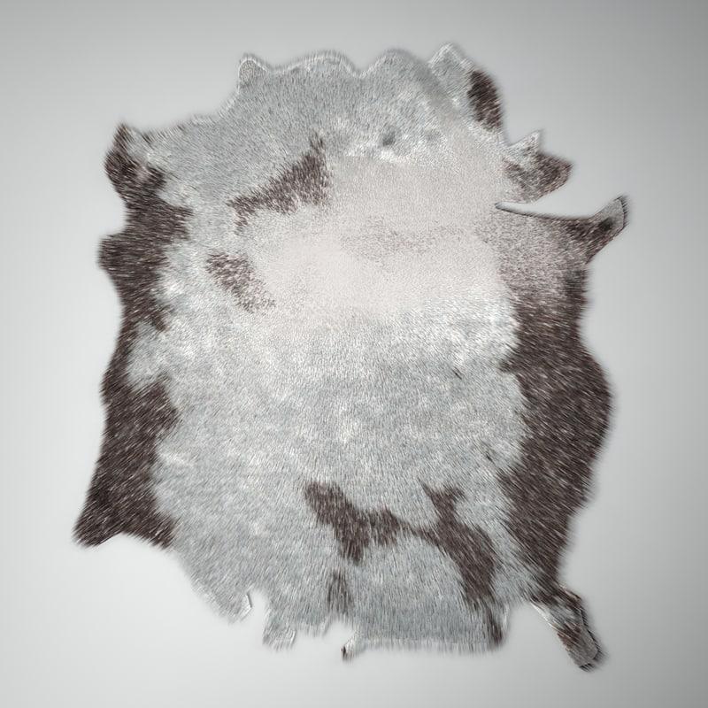 3d model hair fur carpet cow