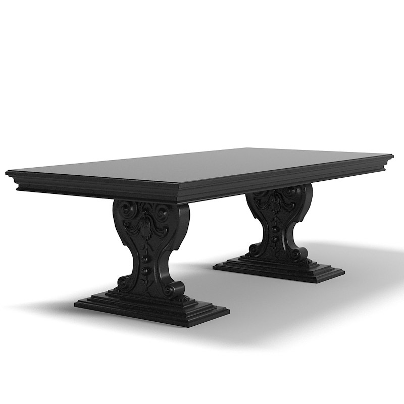 Chelini 204 Dining Table pedestal classic carved victorian