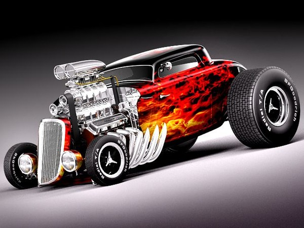Ford 1933 HotWheels Hot Rod 3D Models