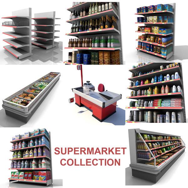 Supermarket Collection 3D Models