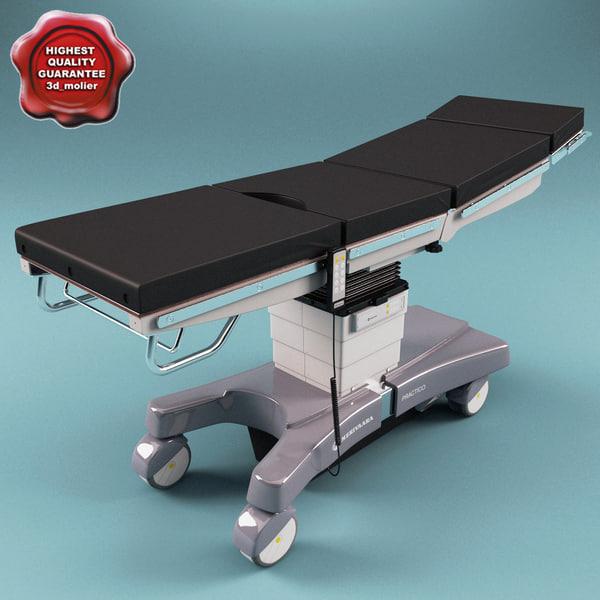 Modular Operating Table Merivaara Practico 3D Models